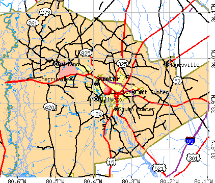 Sumter, SC map
