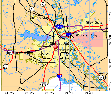 Shreveport, LA map