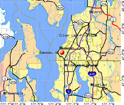 Edmonds, WA map