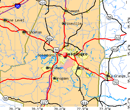 Goldsboro, NC map