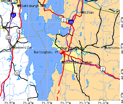 Burlington, VT map