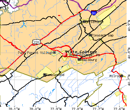 State College, PA map