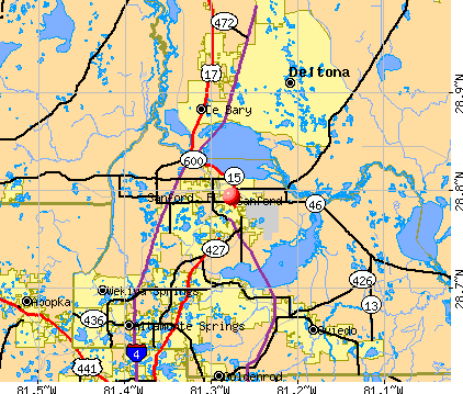 Sanford, FL map