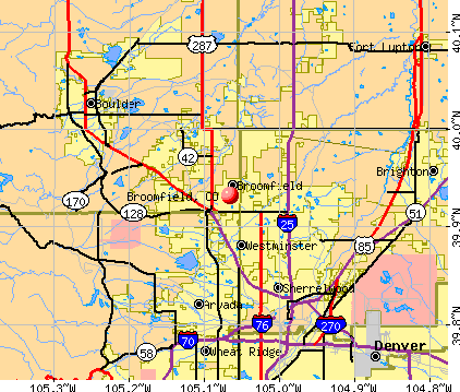 Broomfield, CO map