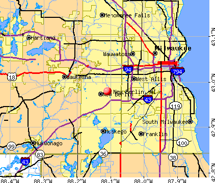 New Berlin, WI map