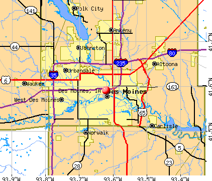 Des Moines, IA map