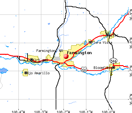 Farmington, NM map
