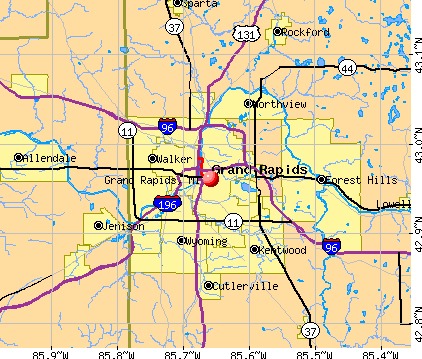 Grand Rapids, MI map