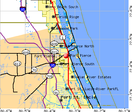 Fort Pierce, FL map