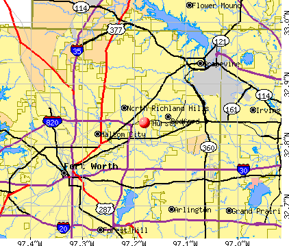 Hurst, TX map