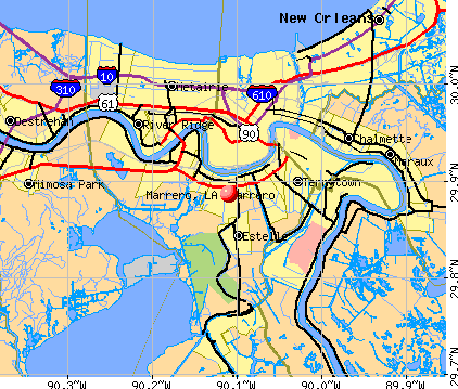 Marrero, LA map
