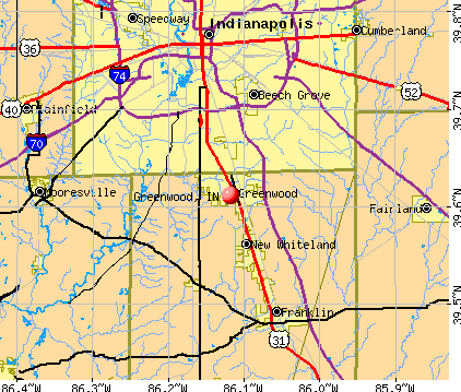 Greenwood, IN map