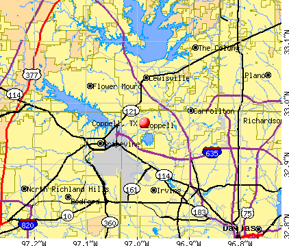 Coppell, TX map
