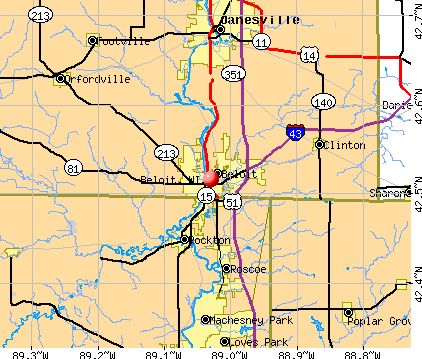 Beloit, WI map