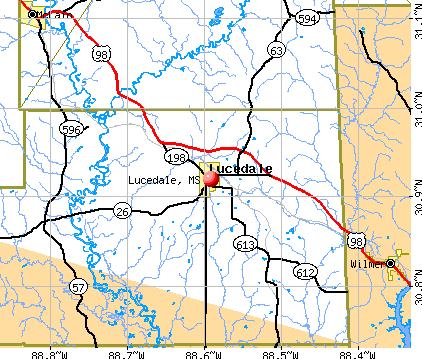 Lucedale, MS map