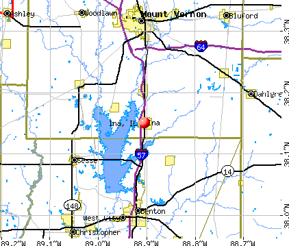 Ina, IL map