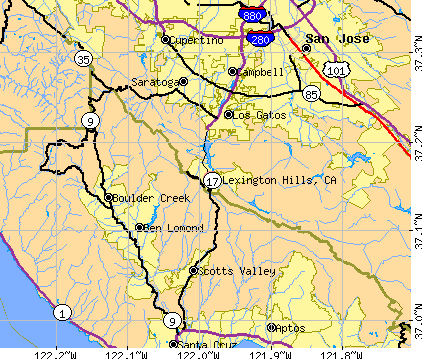 Lexington Hills, CA map