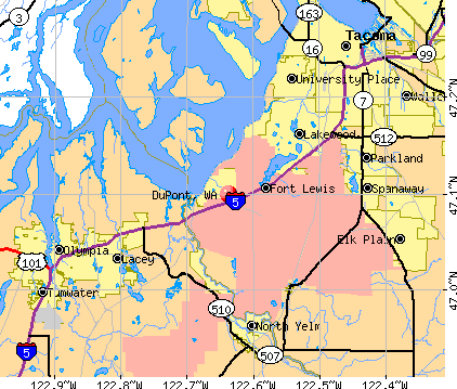 DuPont, WA map