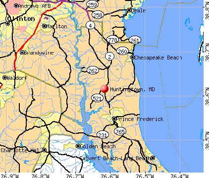 Huntingtown, MD map