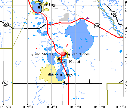 Sylvan Shores, FL map