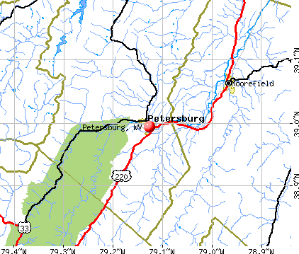 Petersburg, WV map