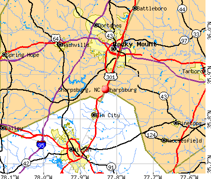Sharpsburg, NC map