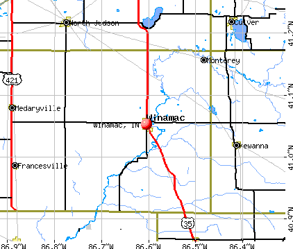 Winamac, IN map