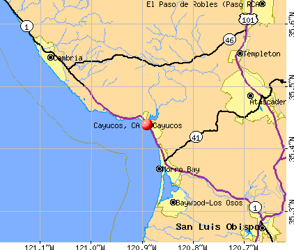 Cayucos, CA map