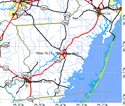 Snow Hill, MD map