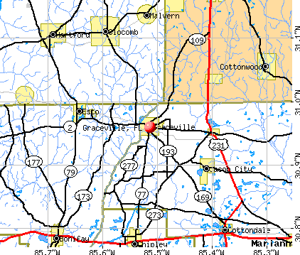 Graceville, FL map
