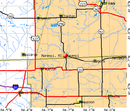 Morenci, MI map