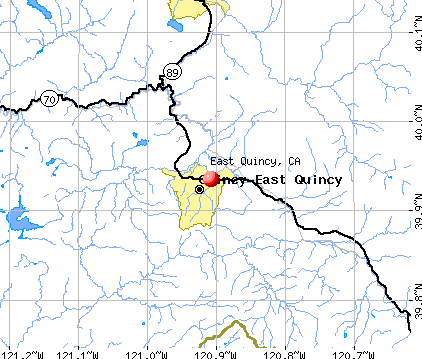 East Quincy, CA map