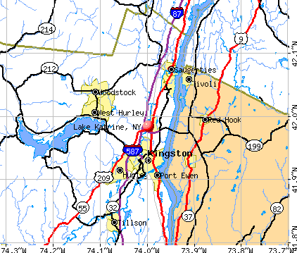 Lake Katrine, NY map