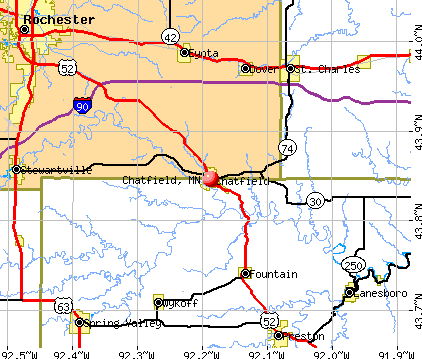 Chatfield, MN map