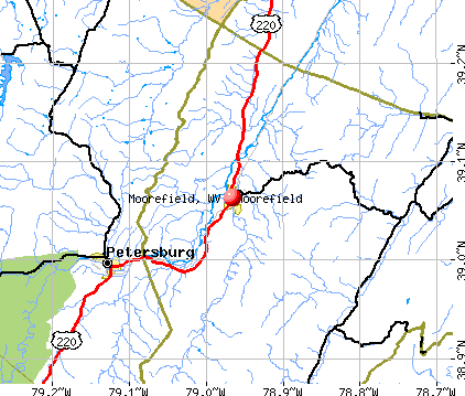 Moorefield, WV map