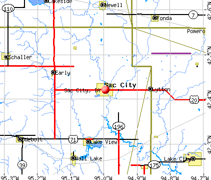 Sac City, IA map