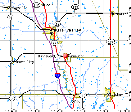 Wynnewood, OK map