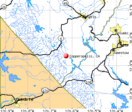 Copperopolis, CA map