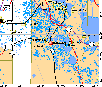 Groveland, FL map