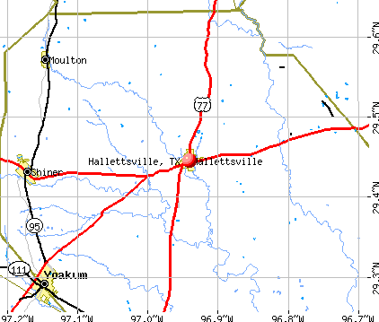 Hallettsville, TX map
