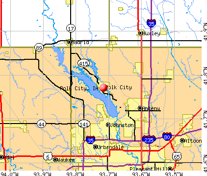 Polk City, IA map