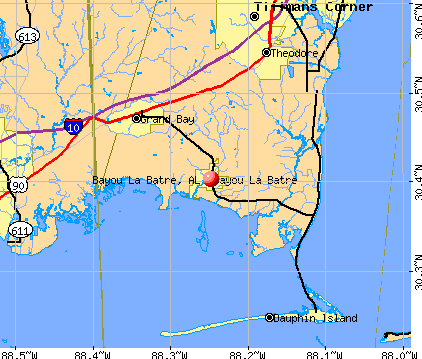 Bayou La Batre, AL map
