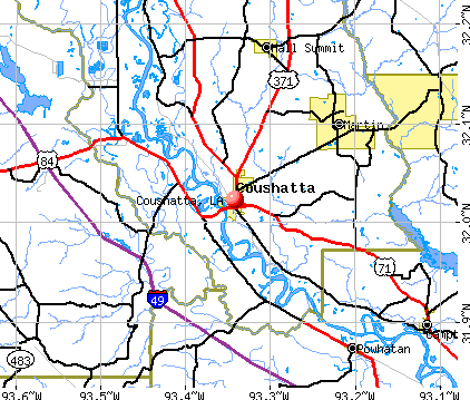 Coushatta, LA map