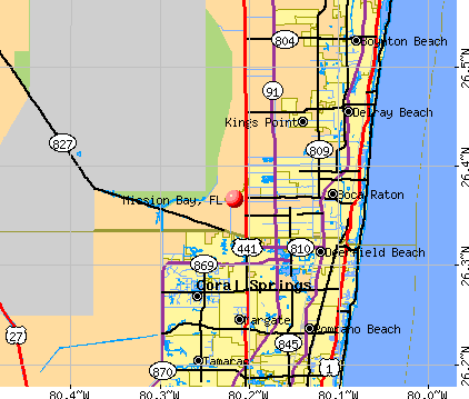Mission Bay, FL map