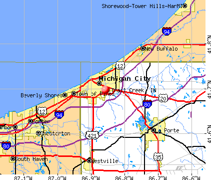 Trail Creek, IN map