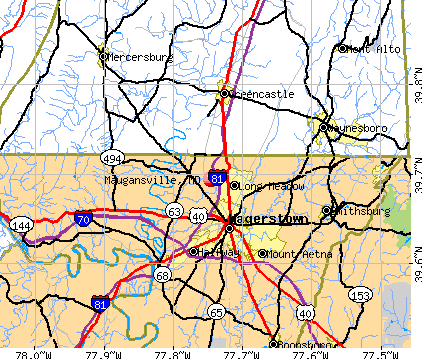 Maugansville, MD map