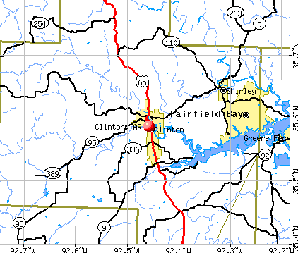 Clinton, AR map