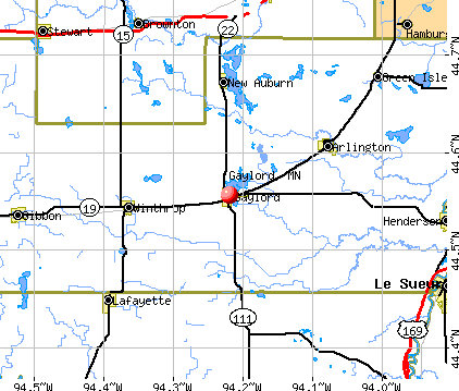 Gaylord, MN map