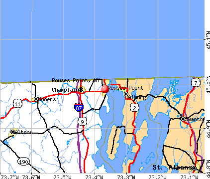 Rouses Point, NY map