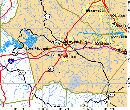 Salem, NC map